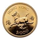 1978 Hong Kong Gold $1000 Year of the Horse BU