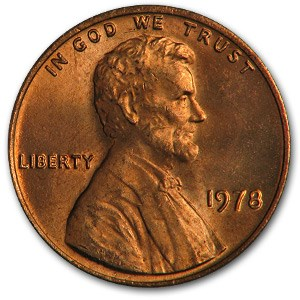 1978 Lincoln Cent BU (Red)
