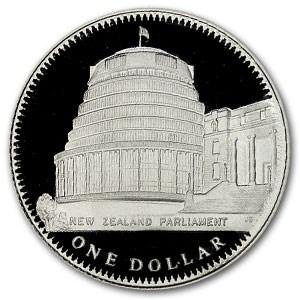 1978 New Zealand Silver Dollar Coronation Parliament Proof