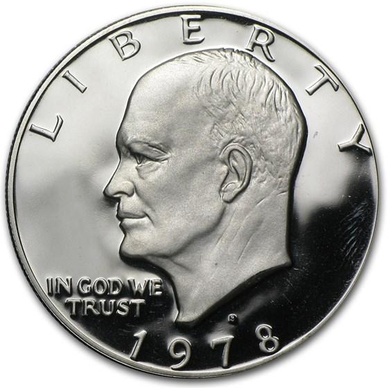 1978-S Clad Eisenhower Dollar Gem Proof