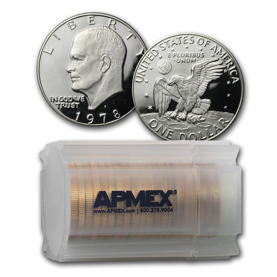 1978-S Eisenhower Dollar 20-Coin Roll Gem Proof