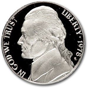 1978-S Jefferson Nickel Gem Proof