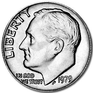 1979 Roosevelt Dime BU