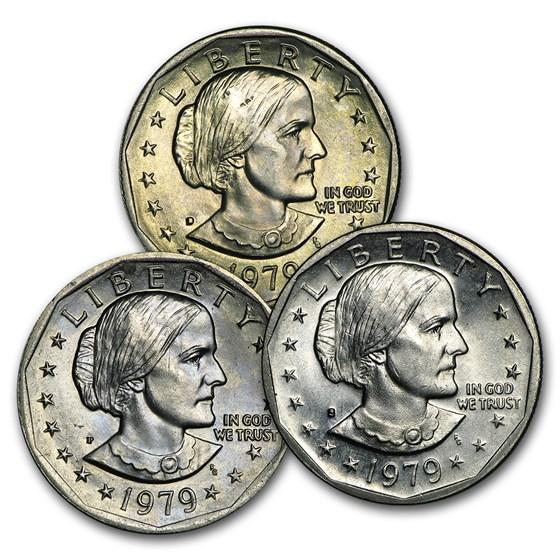 1979 SBA 3-Coin P-D-S Set BU