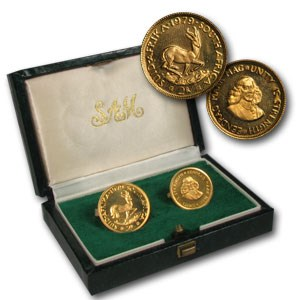 1979 South Africa 2-Coin Gold Proof Set (1 Rand, 2 Rand)