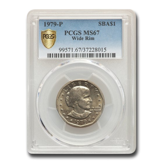 1979 Susan B. Anthony Dollar MS-67 PCGS (Wide Rim)