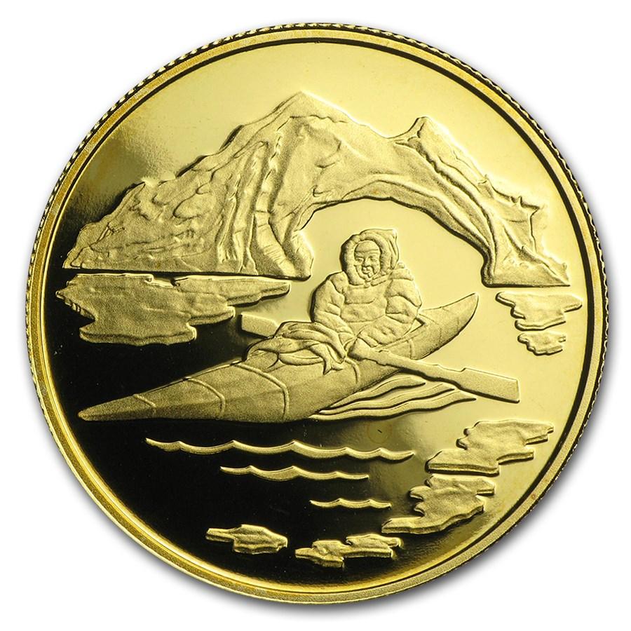 1980 Canada 1/2 oz Proof Gold $100 Arctic Territories
