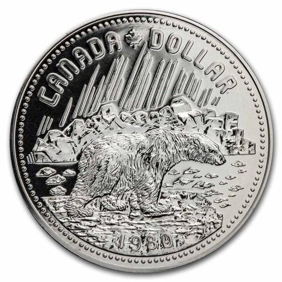 1980 Canada Silver Dollar Specimen (Arctic Territories w/OGP)