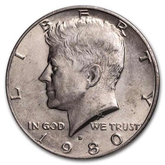 1980-D Kennedy Half Dollar BU