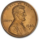 1980-D Lincoln Cent BU (Red)