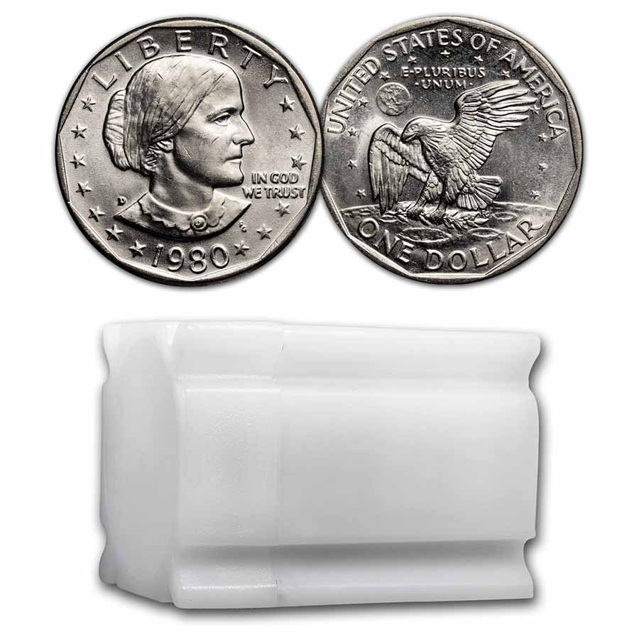 1980-D SBA 20-Coin Roll BU