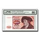 1980 Germany Federal Rep, 500 Deutsche Mark, GEM Unc-66 EPQ, PMG