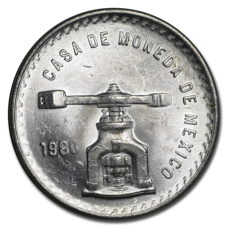 1980 Plata Pura Una Onza Casa De Moneda Brilliant Uncirculated
