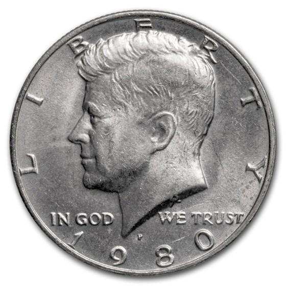 1980-P Kennedy Half Dollar BU