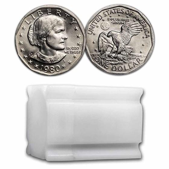 1980-P SBA 20-Coin Roll BU