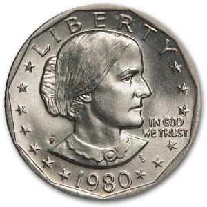 1980-P Susan B. Anthony Dollar BU