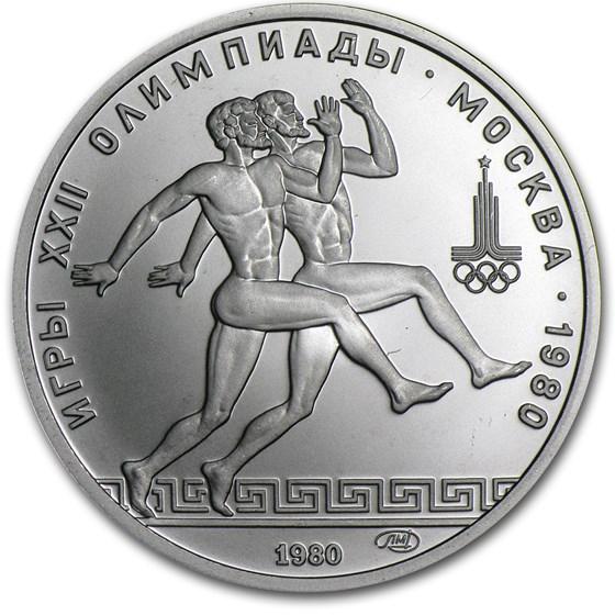 1980 Russia Platinum 150 Roubles (Runners, .999 Fine)