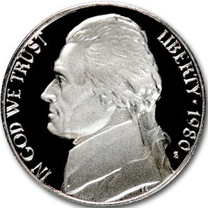 1980-S Jefferson Nickel Gem Proof