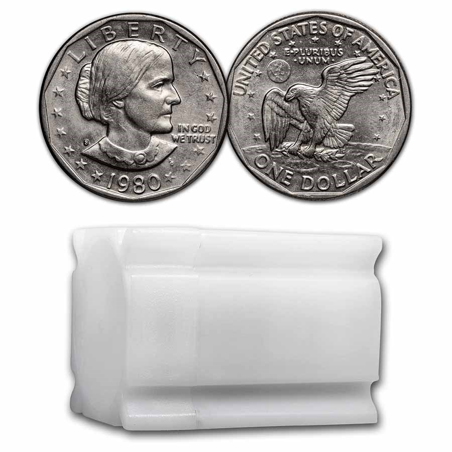 1980-S SBA 20-Coin Roll BU