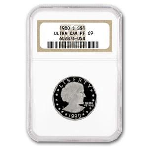 1980-S SBA Dollar PF-69 NGC