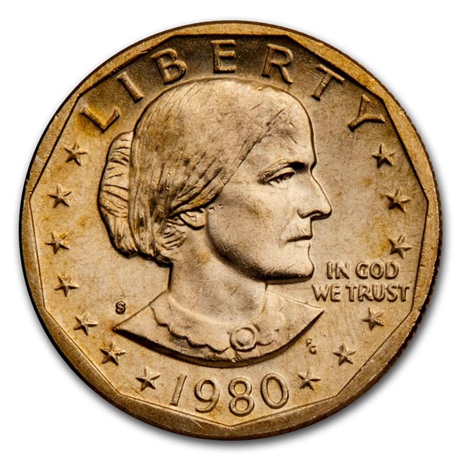 1980-S Susan B. Anthony Dollar BU