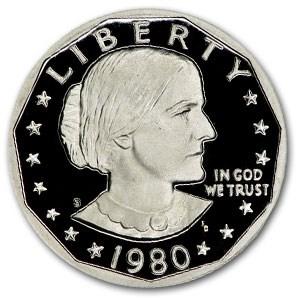 1980-S Susan B. Anthony Dollar Gem Proof