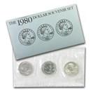 1980 SBA 3-Coin Souvenir P-D-S Set BU