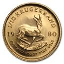 1980 South Africa 1/10 oz Gold Krugerrand