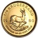1980 South Africa 1/4 oz Gold Krugerrand BU