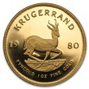 1980 South Africa 1 oz Proof Gold Krugerrand