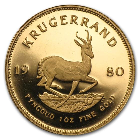 1980 South Africa 1 oz Proof Gold Krugerrand