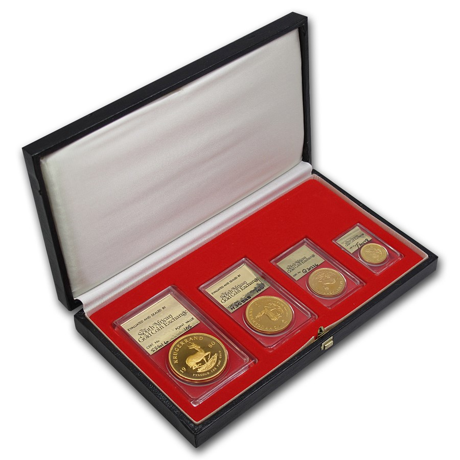 1980 South Africa 4-Coin Gold Krugerrand Proof Set SAGCE