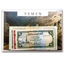 1981-1996 Yemen 1-200 Riyals Banknote Set Unc