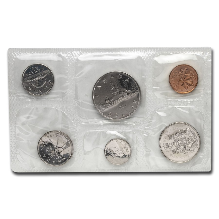 1981 Canada 6-Coin Proof Like Set