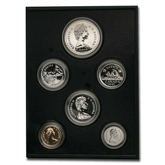1981 Canada 6-Coin Specimen Set (COA, without outer box)