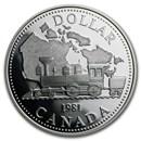 1981 Canada Silver Dollar Proof (Transcontinental Railroad)