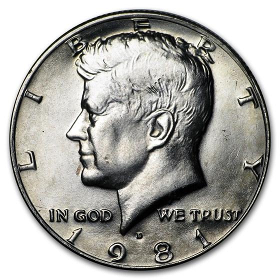 1981-D Kennedy Half Dollar BU
