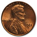 1981-D Lincoln Cent BU (Red)