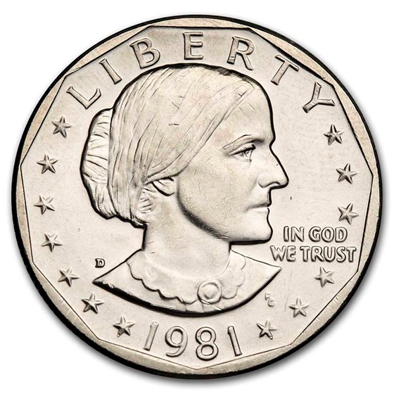 1981-D Susan B. Anthony Dollar BU