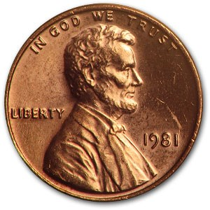 1981 Lincoln Cent BU (Red)