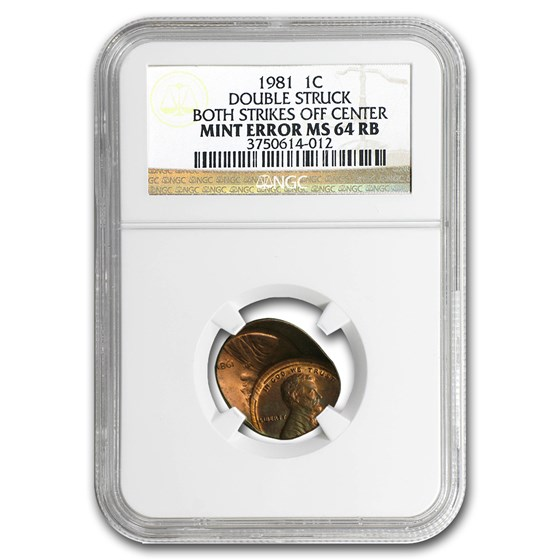 1981 Lincoln Cent Double Struck MS-64 NGC (Red/Brown)