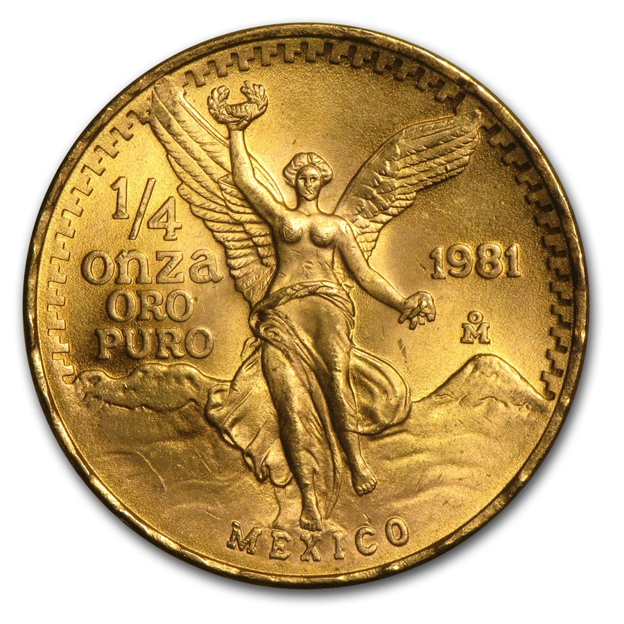 1981 Mexico 1/4 oz Gold Libertad BU