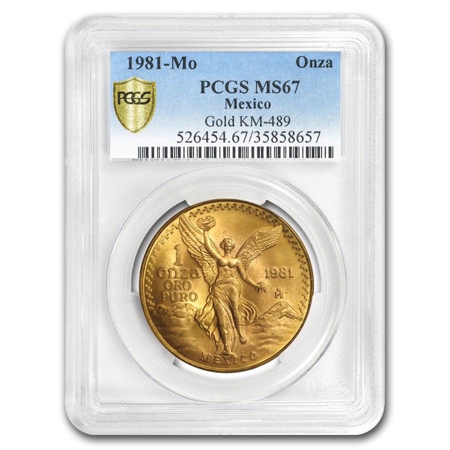 1981 Mexico 1 oz Gold Libertad MS-67 PCGS