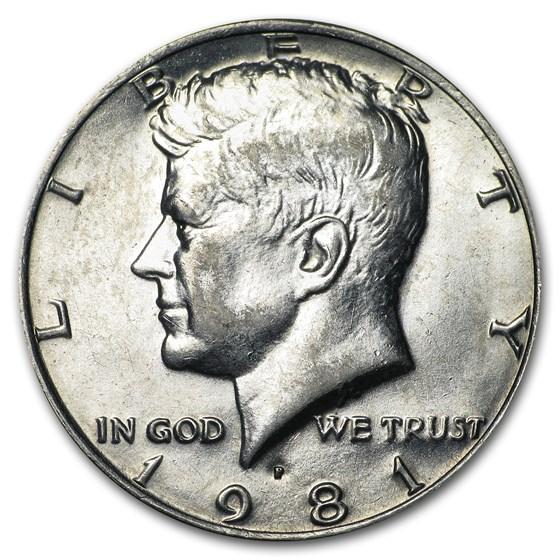 1981-P Kennedy Half Dollar BU