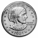1981-P Susan B. Anthony Dollar BU