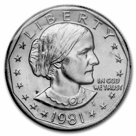 1981-P Susan B. Anthony Dollar BU
