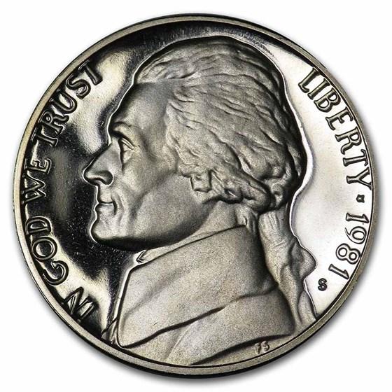 1981-S Jefferson Nickel Type-II Gem Proof