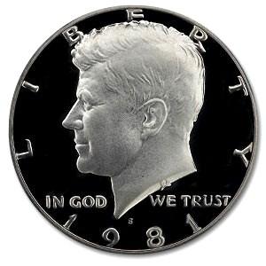 1981-S Kennedy Half Dollar Gem Proof (Type I)