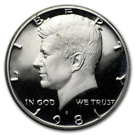 1981-S Kennedy Half Dollar Proof (Type II)
