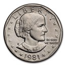 1981-S Susan B. Anthony Dollar BU